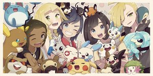 Rating: Safe Score: 36 Tags: bidoof black_eyes black_hair blonde_hair blue_eyes braids cyndaquil dark_skin dedenne emolga gladio_(pokemon) green_eyes group hau_(pokemon) lillie_(pokemon) long_hair male marill minccino minun miu_(miuuu_721) mizuki_(pokemon) morpeko pachirisu patrat pikachu plusle pokemon raichu rattata sandshrew shaymin short_hair signed togedemaru twintails wink you_(pokemon) User: RyuZU