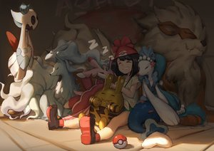 Rating: Safe Score: 40 Tags: arcanine elekid froslass gods lurantis mizuki_(pokemon) ninetales pokemon primarina User: FormX
