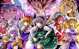 Rating: Safe Score: 74 Tags: alice_margatroid animal_ears catgirl chen cirno doll dress fairy foxgirl group instrument kayama_kenji konpaku_youmu letty_whiterock lily_white lunasa_prismriver lyrica_prismriver merlin_prismriver myon petals saigyouji_yuyuko shanghai_doll sword touhou weapon yakumo_ran yakumo_yukari User: opai
