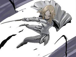 Rating: Safe Score: 74 Tags: armor blonde_hair claymore miria sword tea_(nakenashi) weapon User: PAIIS