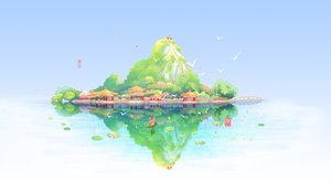 Rating: Safe Score: 32 Tags: animal bird boat flowers japanese_clothes original reflection sanaa scenic sky torii watermark white User: RyuZU