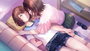 Rating: Safe Score: 41 Tags: 2girls blush brown_hair couch fuji_choko game_cg necklace ootori_ai short_hair shoujo_ai skirt sleeping yanagiya_kokoro yumeutsutsu_re:master User: BattlequeenYume