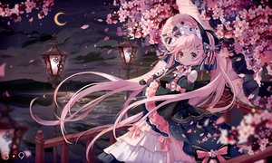 Rating: Safe Score: 61 Tags: bow cherry_blossoms flowers goth-loli hatsune_miku lolita_fashion moon nishina_hima sakura_miku sky twintails umbrella vocaloid water User: BattlequeenYume