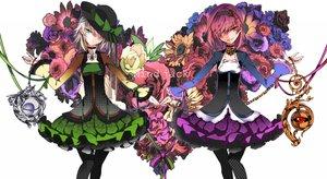Rating: Safe Score: 136 Tags: 2girls dress flowers hat karlwolf komeiji_koishi komeiji_satori touhou white User: opai