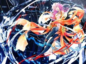 Rating: Safe Score: 26 Tags: bodysuit breasts guilty_crown long_hair pink_eyes pink_hair tanikku yuzuriha_inori User: RyuZU
