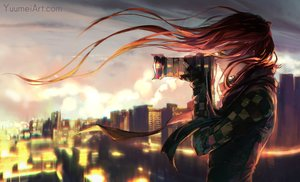 Rating: Safe Score: 96 Tags: building camera city fisheye_placebo gloves green_eyes long_hair red_hair robin_(fisheye_placebo) scarf watermark wenqing_yan_(yuumei_art) User: SciFi