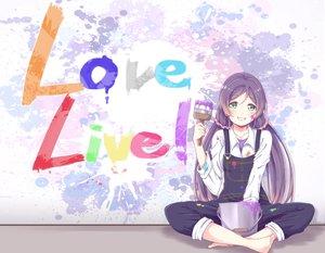 Rating: Safe Score: 50 Tags: barefoot blush graffiti green_eyes long_hair love_live!_school_idol_project purple_hair tagme_(artist) toujou_nozomi twintails User: otaku_emmy