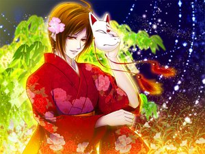 Rating: Safe Score: 19 Tags: brown_hair flowers japanese_clothes kimono meiko miwa_yoshikazu night orange_eyes short_hair vocaloid User: HawthorneKitty