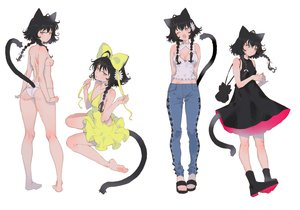 Rating: Safe Score: 47 Tags: animal_ears aruterra ass barefoot bikini black_hair blue_eyes braids catgirl dress long_hair original sideboob swimsuit tail twintails User: BattlequeenYume