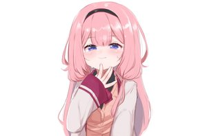 Rating: Safe Score: 47 Tags: blue_eyes blush close headband kio_(yumekuikio) loli nijisanji pink_hair school_uniform sketch suou_sango third-party_edit white User: otaku_emmy