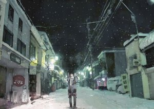Rating: Safe Score: 90 Tags: night original scenic snow toi8 winter User: HawthorneKitty