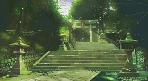 Rating: Safe Score: 47 Tags: green kamo_nasus. nobody original scenic shrine stairs torii User: FormX