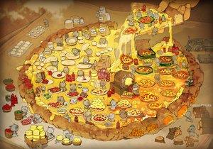Rating: Safe Score: 55 Tags: demizu_posuka drink food original pizza watermark User: otaku_emmy