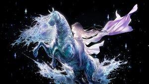 Rating: Safe Score: 67 Tags: animal dress elsa_(frozen) frozen_(disney) horse lengchan_(fu626878068) long_hair water User: BattlequeenYume