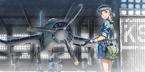 Rating: Safe Score: 132 Tags: aircraft aoki_(miharuu) gloves industrial jpeg_artifacts male original ponytail short_hair shorts wristwear User: Flandre93
