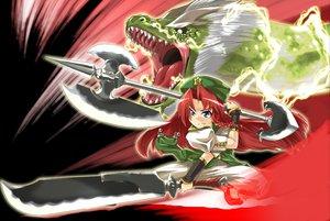 Rating: Safe Score: 22 Tags: dragon hong_meiling sword touhou weapon User: Tensa
