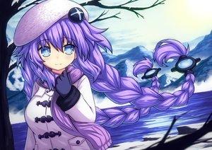 Rating: Safe Score: 24 Tags: aqua_eyes braids gloves hat hyperdimension_neptunia long_hair novus_rue purple_hair purple_heart scarf snow twintails winter User: otaku_emmy