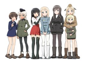 Rating: Safe Score: 15 Tags: aliasing anabuki_tomoko aqua_eyes black_hair blonde_hair boots brown_eyes brown_hair elizabeth_f_beurling elma_leivonen giusepina_cenni glasses gray_eyes green_eyes group hat hoodie kaneko_(novram58) katherine_o'hare long_hair pantyhose sakomizu_haruka short_hair skirt strike_witches thighhighs ursula_hartmann white User: RyuZU