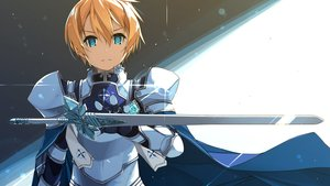Rating: Safe Score: 37 Tags: all_male aqua_eyes armor blonde_hair cape eugeo gloves male shikei short_hair sword sword_art_online sword_art_online_alicization weapon User: otaku_emmy