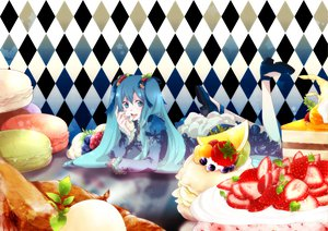 Rating: Safe Score: 33 Tags: cake food hatsune_miku mirunai vocaloid User: Zloan