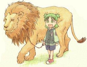Rating: Safe Score: 20 Tags: animal azuma_kiyohiko koiwai_yotsuba lion yotsubato! User: Oyashiro-sama