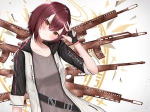 Rating: Safe Score: 23 Tags: arknights exusiai_(arknights) gun mo_(pixiv28646846) short_hair weapon User: Dreista