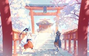Rating: Safe Score: 34 Tags: mask original shrine torii yamakawa User: RyuZU