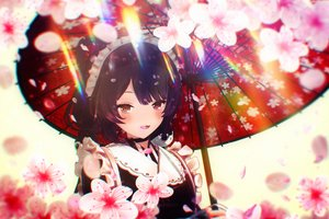 Rating: Safe Score: 72 Tags: 3d aliasing cherry_blossoms doggirl flowers inui_toko nijisanji tagme_(artist) User: sadodere-chan