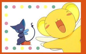 Rating: Safe Score: 3 Tags: animal card_captor_sakura cat clamp kero scan spinel_sun wings User: RyuZU