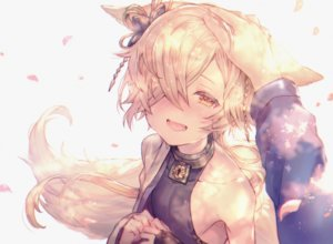 Rating: Safe Score: 99 Tags: all_male animal_ears blonde_hair blush close collar fang granblue_fantasy kou_(granblue_fantasy) long_hair male shigaraki_(strobe_blue) tail tears trap yellow_eyes User: otaku_emmy
