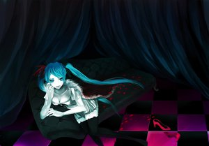 Rating: Safe Score: 76 Tags: blue_eyes blue_hair breasts cleavage hatsune_miku long_hair petals sinomoku08 thighhighs twintails vocaloid world_is_mine_(vocaloid) zettai_ryouiki User: Dust