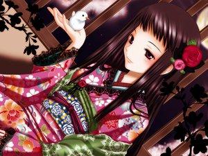 Rating: Safe Score: 41 Tags: animal ar_tonelico bird flowers inumori_sayaka jakuri japanese_clothes kimono User: opai