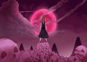 Rating: Safe Score: 62 Tags: moon night rumia skull touhou uu_uu_zan User: FormX