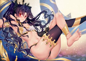 Rating: Safe Score: 60 Tags: barefoot black_hair cameltoe fate/grand_order fate_(series) ishtar_(fate/grand_order) long_hair red_eyes signed twintails xin_(moehime) User: Dreista