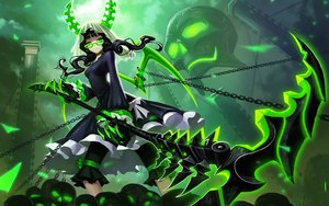Rating: Safe Score: 196 Tags: black_rock_shooter chain glasses green horns liang_xing skull takanashi_yomi weapon wings User: birdy73