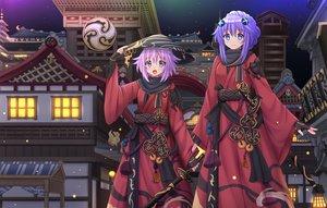 Rating: Safe Score: 48 Tags: cosplay final_fantasy final_fantasy_xiv hyperdimension_neptunia kazenokaze neptune purple_heart User: luckyluna