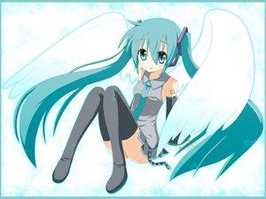 Rating: Safe Score: 31 Tags: hatsune_miku twintails vocaloid wings User: HawthorneKitty