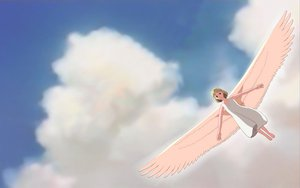 Rating: Safe Score: 9 Tags: clouds ghibli on_your_mark sky wings User: connardman