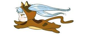Rating: Safe Score: 6 Tags: animal_ears blush catgirl chibi dualscreen gray_hair hoshino_ruri martian_successor_nadesico white yellow_eyes User: Oyashiro-sama