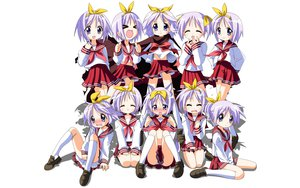 Rating: Safe Score: 32 Tags: hiiragi_tsukasa lucky_star school_uniform white User: rargy