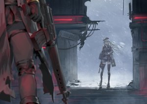 Rating: Safe Score: 100 Tags: 2girls aamond anthropomorphism girls_frontline gun hk416_(girls_frontline) m16a1_(girls_frontline) weapon User: FormX
