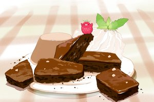 Rating: Safe Score: 22 Tags: animal bird cake chai_(artist) food fruit original signed User: otaku_emmy
