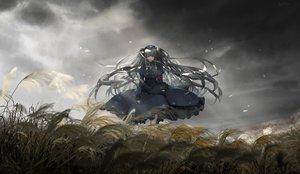 Rating: Safe Score: 48 Tags: apron clouds cross gray_hair headdress liyou-ryon long_hair maid minai_karte necklace nurse red_eyes sky virtual_clinic User: otaku_emmy