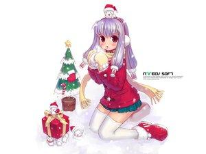 Rating: Safe Score: 16 Tags: blush christmas earmuffs gloves long_hair pangya purple_hair red_eyes scarf skirt snow thighhighs tiki tree white User: Oyashiro-sama
