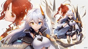 Rating: Safe Score: 43 Tags: 2girls bicolored_eyes honkai_impact kiana_kaslana long_hair murata_himeko watermark xfatezh zoom_layer User: BattlequeenYume