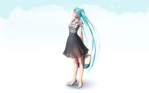Rating: Safe Score: 96 Tags: aqua_eyes aqua_hair hatsune_miku long_hair see_through skirt takouji twintails vocaloid User: gnarf1975