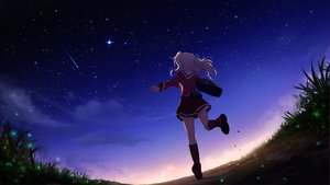 Rating: Safe Score: 103 Tags: charlotte clouds long_hair school_uniform skirt sky stairs tomori_nao white_hair yuuta_(806350354) User: RyuZU