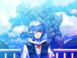 Rating: Safe Score: 37 Tags: ayanami_rei blue mecha neon_genesis_evangelion red_eyes tetsukuzu_tetsuko User: Tensa