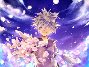 Rating: Safe Score: 9 Tags: all_male clouds kagamine_len male moon night petals sky vocaloid User: Maboroshi