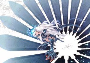 Rating: Safe Score: 109 Tags: armor ayaki horns long_hair original pixiv_fantasia red_eyes tail white_hair User: opai